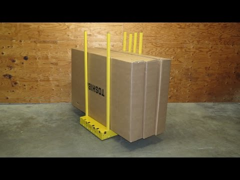 Yellow Safety Dolly compared to Hand Truck and Flat Cart is 3 times more productive