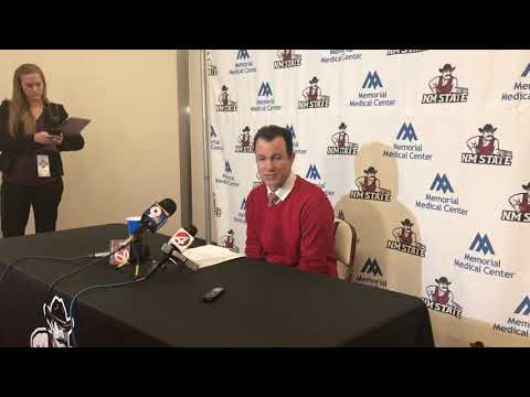 UNM coach Paul Weir after Lobos beat Aggies (11.21.19)