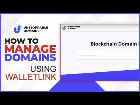 How to manage domains using WalletLink.