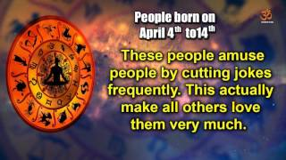 Basic Characteristics of people born between April 4th to April 14th