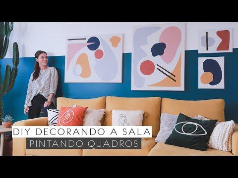 DIY Pintando Quadros p/ Sala! – Decorando a Sala 08