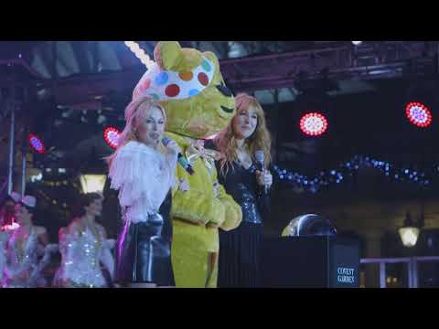 Covent Garden switches on its Christmas lights with Kylie Minogue