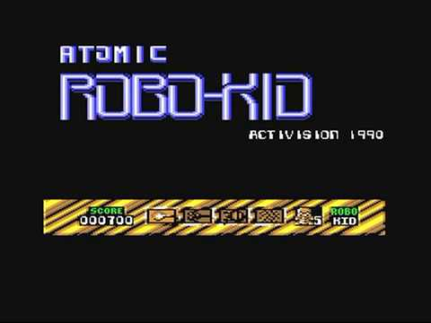 Commodore 64: Atomic Robo Kid game ending by Activision