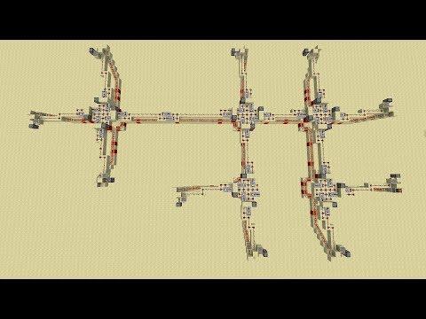Minecart Recall Network -- Minecraft Redstone Showcase