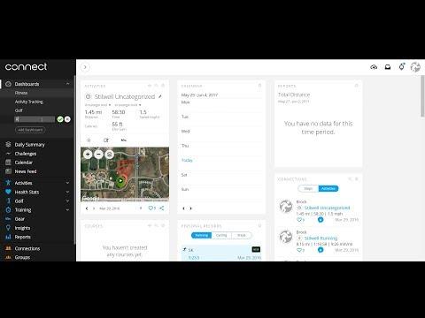 Garmin Connect - New Dashboard