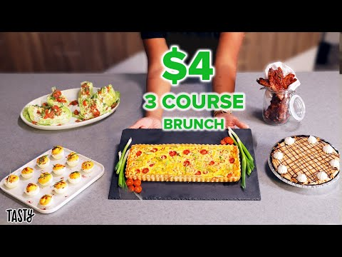 A Private Chef Tries To Make a 3-Course Brunch For 6 for $25 ? Tasty
