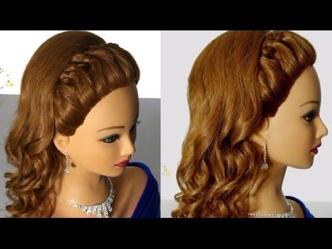 Свадебная прическа с плетением на длинные волосы