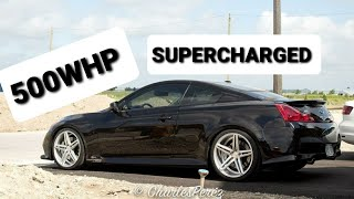 500whp Stillen A2A Supercharged G37 Coupe IPL - Dyno and Highway Ripping