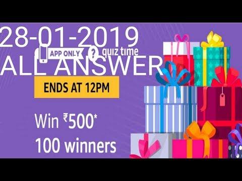 Today Amazon quiz get Rs -  500