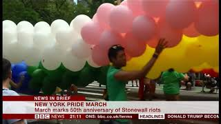 New York gearing up for Stonewall 50th anniversary parade (5) (USA) - BBC News - 30th June 2019