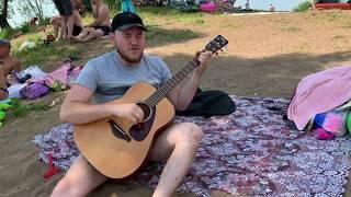 Русский - горловое пение. Офигенное горловое пение и игра на гитаре  Салгалдар бис