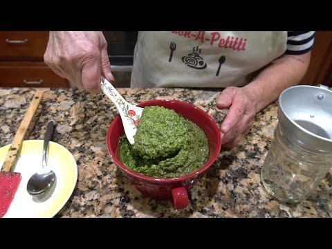 Italian Grandma Makes Fresh Basil Pesto - UCQ5BnGcZx7XlkFKx8q3dsmw