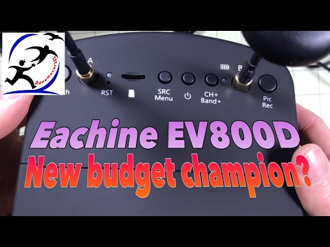 Eachine EV800D Diversity Goggles with DVR.  The new champion of budget goggles? - UCzuKp01-3GrlkohHo664aoA