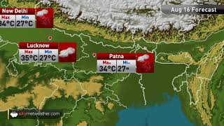 Maximums and minimums for major cities of India on August 16th | Skymet Weather