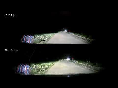 SJDASH+ (M30+) Dashcam vs YI DASH -  Night footage Comparison Video - default