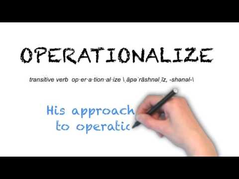 How to Pronounce 'OPERATIONALIZE'- English Grammar