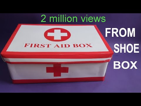 MAKE EASY FIRST AID BOX FROM SHOE BOX   FIRST AID kit FOR KIDS   BEST OUT OF WASTE   CREATIVE MOM - UCsFctXdFnbeoKpLefdEloEQ