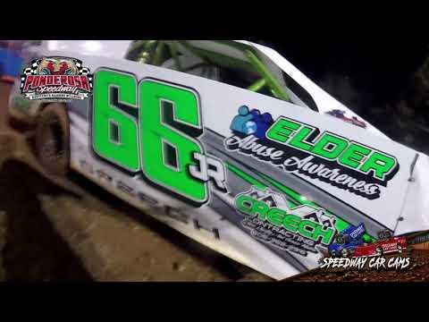 #66Jr Caleb Creech - Mini Stock - 8-6-21 Ponderosa Speedway - In-Car Camera - dirt track racing video image