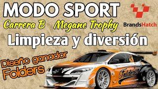 Gran Turismo Sport - Modo Sport Carrera B - Dos carrerones LIMPIOS en Brands Hatch - Megane Trophy