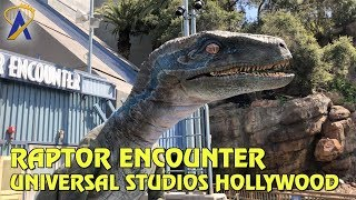 Raptor Encounter with Blue in Jurassic World at Universal Studios Hollywood