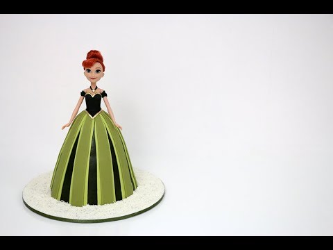 How To Make A Princess Doll Cake - Anna Frozen Doll Cake Tutorial - UCuZRhlv3mco8oAeaacCW2VQ