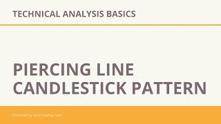 Piercing Line Candlestick Pattern - Technical Analysis Basics |Trading|Intraday|Stock Market |STT