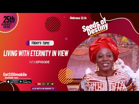 Dr Becky Paul-Enenche - SEEDS OF DESTINY - TUESDAY AUGUST 25, 2020