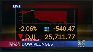 DOW DROP: Stocks Tumble Amid Wears Of A Worsening Trade War