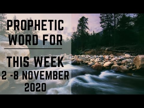 Prophetic Word for This Week 2 November - subscribe for daily Prophetic Words.