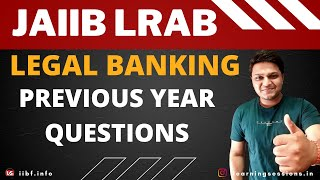 LRAB - Legal Banking Memory Recalled Questions One liners JAIIB
