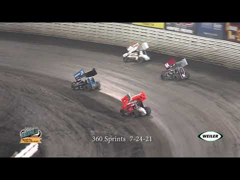 Knoxville Raceway 360 Highlights - July 31, 2021 - dirt track racing video image
