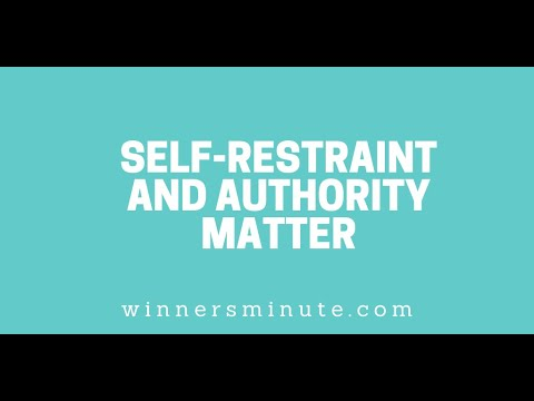 Self-Restraint and Authority Matter // The Winner's Minute With Mac Hammond