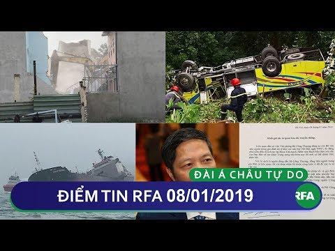Điểm tin RFA tối 08/01/2019 | Chính quyền tiếp tục cưỡng chế Vườn rau Lộc Hưng