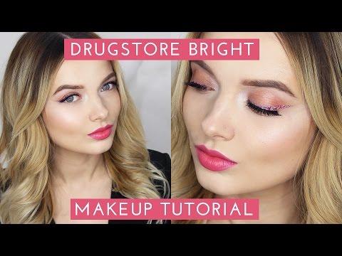 DRUGSTORE Bright Summer Makeup Tutorial // MyPaleSkin - UC_0cZVAIcWOWiYxnY32gSgg