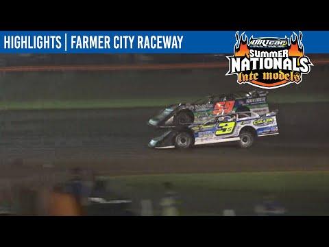 DIRTcar Summer Nationals Late Models Farmer City Raceway July 9, 2021   HIGHLIGHTS - dirt track racing video image