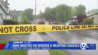 Man indicted on murder and weapons charges for June shooting