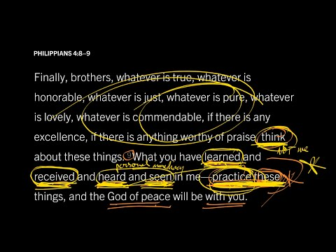 Philippians 4:89 // Part 3 // How to Experience the Presence of God