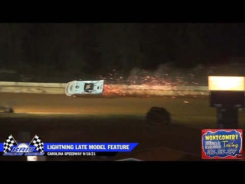 Lightning Late Model Feature - Carolina Speedway 9/18/21 - dirt track racing video image