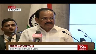Vice President addresses Indian community in Latvia