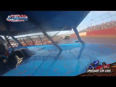 #20 Shun Thomas - 602 Crate Late Model - Ice Bowl 2021 - Talladega Short Track - In-Car Camera - dirt track racing video image