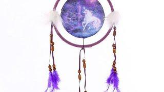 Yhon Soto Solutions - Novelty Gift Decorative Fantasy Unicorn 16cm Dreamcatcher