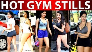 Jhanvi Kapoor's Hot Spicy Look During Her Gym Will Shock You | Rare Collections