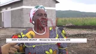Minister Okurut praises progress of resettlement of Elgon region landslide survivors
