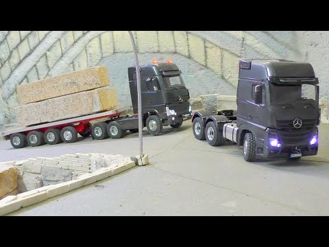 HEAVY TRANSPORT - 100t BLOCKS OF STONE, AMAZING RC LIVE ACTION - UCT4l7A9S4ziruX6Y8cVQRMw