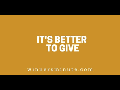 Its Better to Give // The Winner's Minute With Mac Hammond