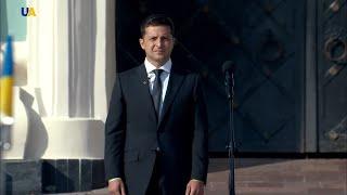 Volodymyr Zelensky Raised Ukrainian National Flag First Time as President
