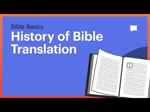 History of Bible Translation
