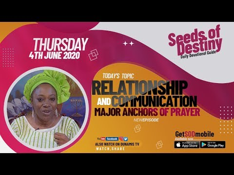 Dr Becky Paul-Enenche - SEEDS OF DESTINY  THURSDAY JUNE 4, 2020
