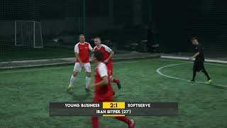 Обзор матча | 13.YOUNG BUSINESS CLUB 3-2 SOFTSERV #SFCK Street Football Challenge Kiev