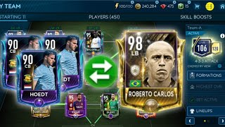Hidden way to upgrade players to 98 Ovr●Insane team upgrade +Champions league team in FIFA Mobile 19